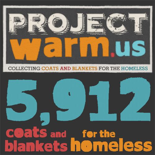 Project Warm Us is done for 2012 – but you can still help the homeless