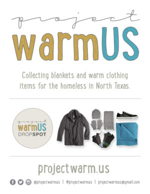 Project Warm Us flyer